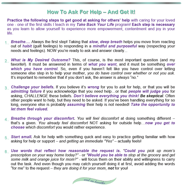 Handout: How To Ask For Help - And Get It!